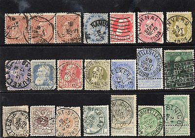 Selection of early Belgium Stamps