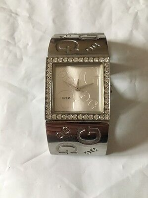 Ladies Guess Watch Silver G Bangle