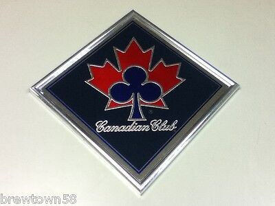 Canadian Club whiskey bar sign imported Canada Maple leaf shamrock clover FL8