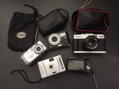 Lot of 5 Vintage Cameras Casio, Photoflex, Canon, Bell & Howell, GE