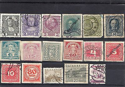 Selection of early Austrian Stamps
