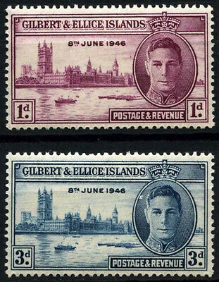 Gilbert & Ellice Is. 1946 SG#55-6 Victory MH Set #D51945