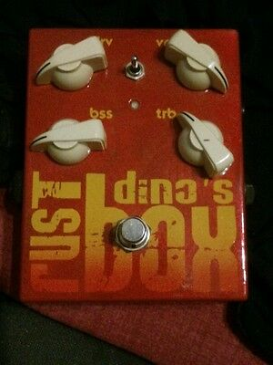 Dino's Guitars Rust Box  Overdrive Booster Distorsore Hand Made Boutique