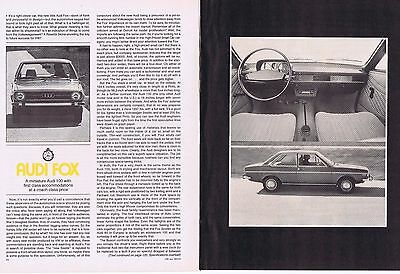 1973 Article - AUDI FOX - 5 Page Article