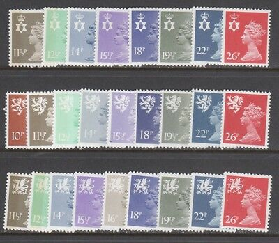 GREAT BRITAIN REGIONAL STAMPS — (26)  DIFFERENT —  1980s —  MINT