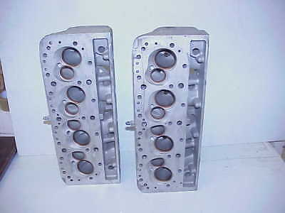 "GM SB2.2 Chevy Ported Complete Aluminum Heads with 5/16 & 11/32"" Titanium Valves"