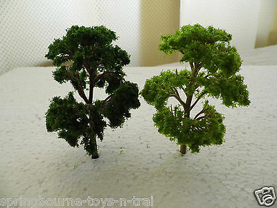 PACK of  6 -MODEL TREES (Mixed Green ) for  Railway / Scenery 1/76 / OO ( New )