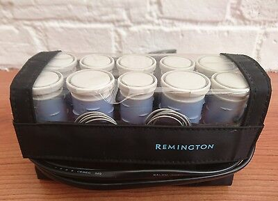 Remington Express Travel Set of 10 Heated Hair Rollers / Curlers with Pins Clips