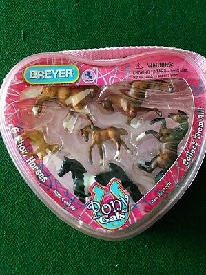 Breyer Pony Gals Set Of 6 Horses & Pouch SHOW HORSES Great Condition