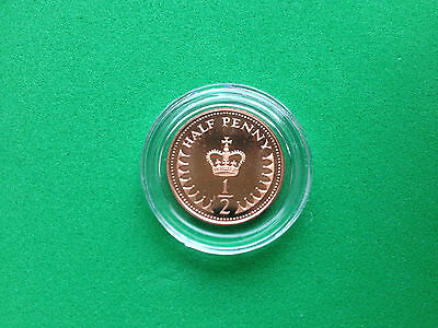 Royal Mint St Edward's Crown Proof Half Pence 1/2 p Coin Choose your Year 71-84