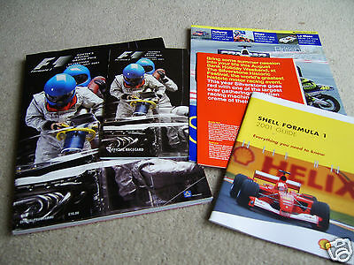 2001 British F1 Grand Prix Programme Racecard and associated publications