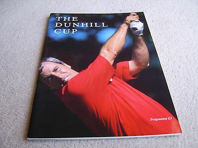 1989 Dunhill Cup programme, St Andrews, won by the USA