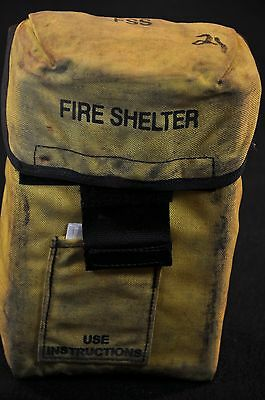 USFS Forestry Service FIRE SHELTER w/ Yellow ALICE Carrier Case FSS unused #21
