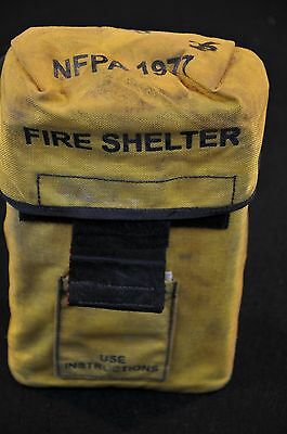 USFS Forestry Service FIRE SHELTER w/ Yellow ALICE Carrier Case FSS unused #25