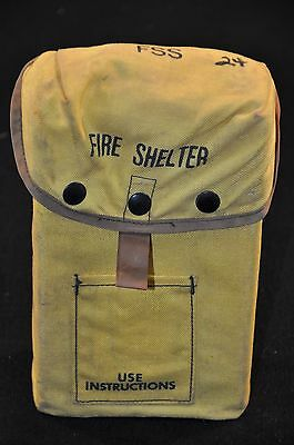 USFS Forestry Service FIRE SHELTER w/ Yellow ALICE Carrier Case FSS unused #24