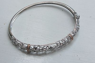 Clogau Silver 925 & Rose Welsh Gold Tree Of Life Bangle