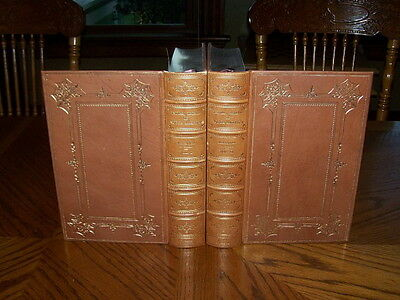 2 Vol INDIAN TRIBES Native American INDIANS McKenney Rare Leather Books Book Set