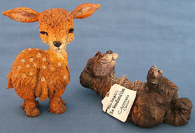 Country Artists Breed Apart Dizzee Deer Fawn Bambi Ollee Otter Figures Woodland