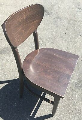 Wood Chair with Rounded Back Mill Works #6557 Commercial Restaurant Dining Seats