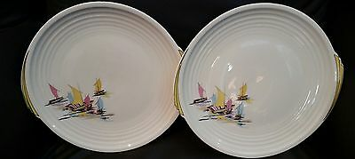 "Edwin Knowles Yorktown Shape Bar Harbor 10"" Dinner Plate set of 2"
