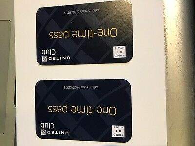 2 united one time pass for use in United Clubs  exp june 2018