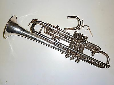 Vintage Hand Hammered bell Selmer New York Silver plated trumpet