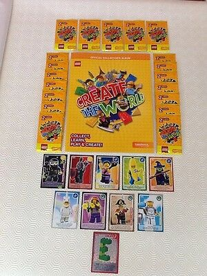 Sainsburys LEGO Create The World Trading Cards Official Book +19packs +10cards!!