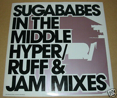 "SUGABABES In The Middle UK 3-trk promo vinyl 12"" Hyper Ruff & Jam mixes"