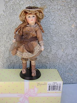 "Antique Reproduction ""Old Time Gal"" 8 Porcelain Doll Delton NEW  NRFB"