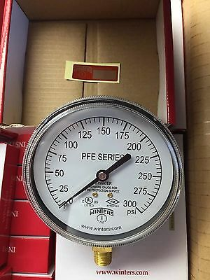 Winters Pfe3935R1 Air/water Pressure Gauge For Fire Protection Service 0-300Psi