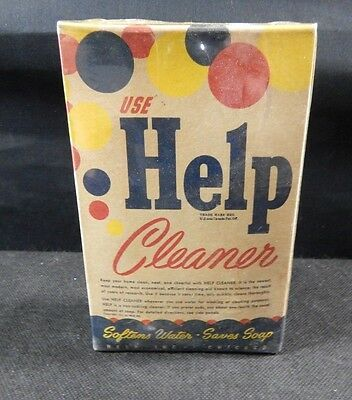 Antique Help Cleaner Water Softener Soap Detergent Laundry Vintage Box 1941