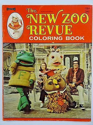 Vintage - 1973 - The New Zoo Revue Coloring Book By SAALFIELD C0944  *VERY RARE*