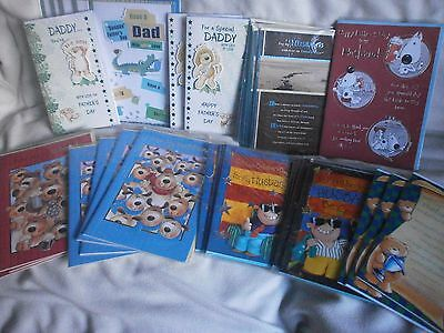 "Fathers Day Cards Large size 35  Embossed & Decoupage Job-lot 7""x 10"" & 6""x 9"""