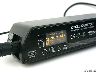 Grin Cycle Satiator 72 volt battery charger  (20-103 volt programmable)