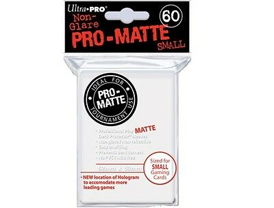 Ultra PRO Card Sleeves Deck Protector - Matte White Small - 60 pack - Yu-Gi-Oh!