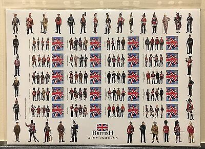 British Army Uniforms Westminster Smilers Sheet 20 1st Royal Mail GB Stamp 2005