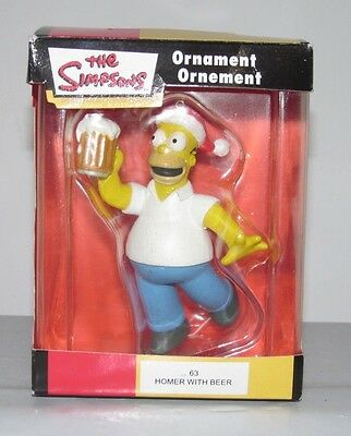 2006 The Simpsons HOMER With Beer Christmas Ornament NIB NEW