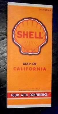 Shell Oil advertising map of California 1945