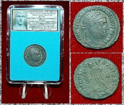 Ancient Roman Empire Coin Of Constantine The Great Jupiter Holding Victory