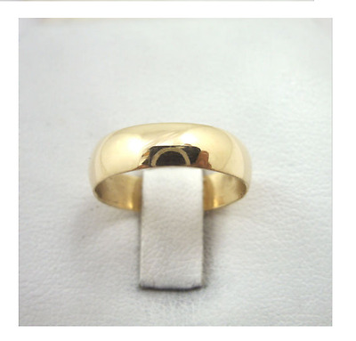 NEW Solid 14K Yellow Gold Band / Ring 5 mm-Size 8.75  SALE