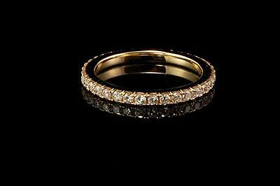 14K YELLOW GOLD FULL CIRCLE 1/2ctt DIAMONDS ETERNITY BAND RING