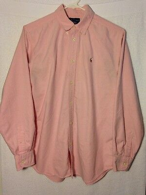 BOYS POLO RALPH LAUREN Button Down Shirt Size 20 Long Sleeve 100% Cotton PINK