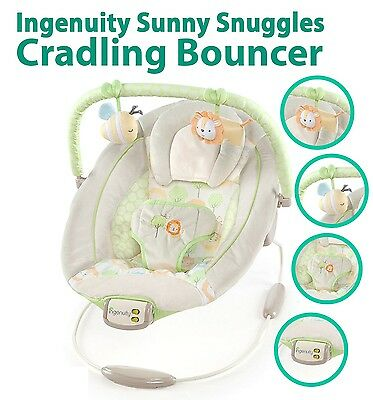 Baby Bouncer InGenuity Infant Toddler Snuggle Cradling Rocker wit Tunes Melodies