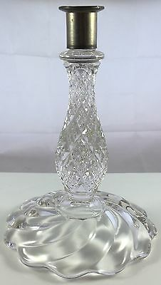 Antique Baccarat Style Fostoria Heisey Cambridge Glass Swirl Candle Stick