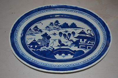 "13"" Chinese Export Canton 1800's Platter"