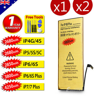 For Apple iPhone 4S 5 5S 5C 6 6S 7 PLUS High Capacity Battery Replacement Tools