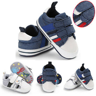 Infant Baby Girls Boys Casual Shoes Soft Sole Anti-slip Kids Sneakers Canvas UK