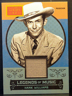 2014 Panini Golden Age HANK WILLIAMS Legends of Music #1 Patch/Material NM