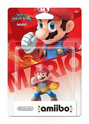 Smash Bros MARIO amiibo, Rare, Brand New, Still-in-box!