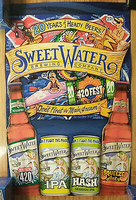Beer Poster Sweet Water Brewing ~ 420 Fest Trout Fishing